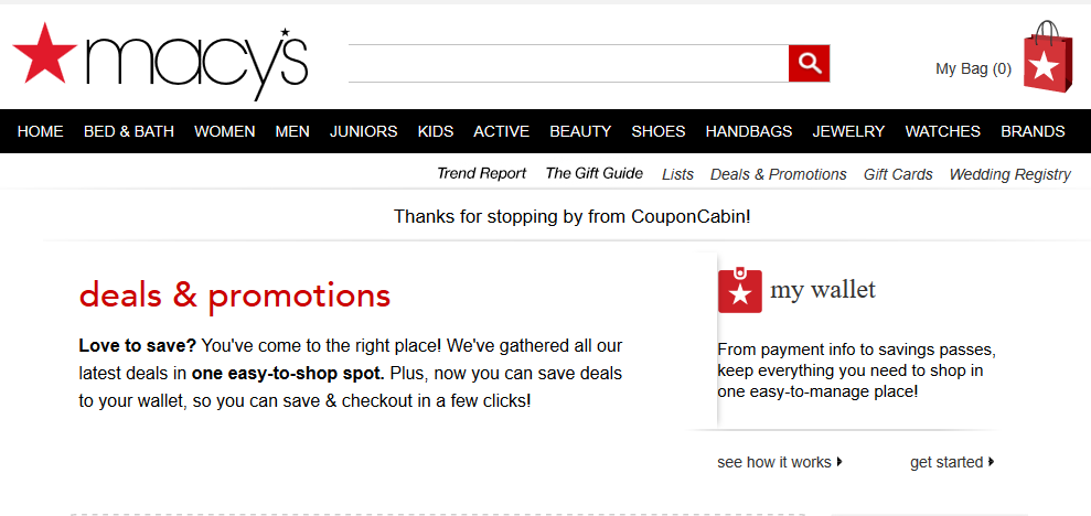 Macys coupon codes online